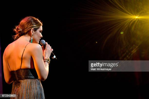 Katharine McPhee performs onstage during the SAGAFTRA Foundation Patron of the Artists Awards 2017 at the Wallis Annenberg Center for the Performing...
