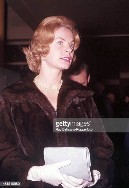 Katharine Worsley fiance of the Duke of Kent at a ball at Grosvenor House in London on 26th April 1961 This image is one of a series taken by Ray...