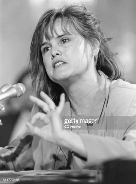 Katherin A Meyer counsel for Petitions argues about the Packwood allegation before the Senate Rules Committee May 13 1993