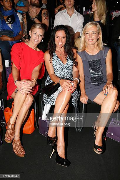 Katherina Schroeder Christine Neubauer and Judith Milberg attend the Laurel Show during the MercedesBenz Fashion Week Spring/Summer 2014 at...