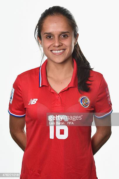 Katherine Alvarado of Costa Rica poses during the FIFA Women's World Cup 2015 portrait session at Sheraton Le Centre on June 6 2015 in Montreal Canada