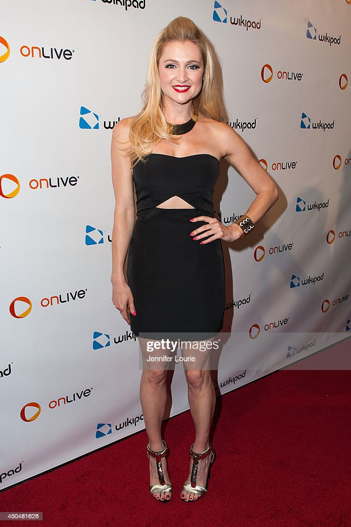 Katherine Bailess attends the Wikipad & OnLive E3 Party at the Elevate Lounge on June 11, 2014 in Los Angeles, California.