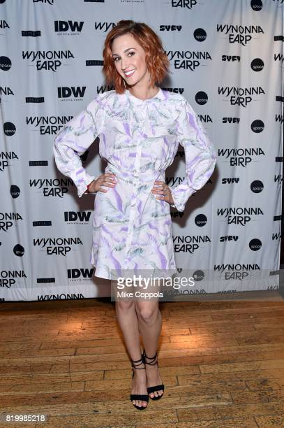 Katherine Barrell at the 'Wynonna Earp' Media Mixer with cast and Fan Appreciation Party during ComicCon International 2017 on July 20 2017 in San...