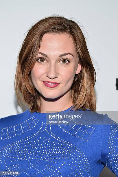 Katherine Barrell attends the premiere of Syfy's 'Wynonna Earp' at WonderCon 2016 at Regal LA Live Stadium 14 on March 26 2016 in Los Angeles...