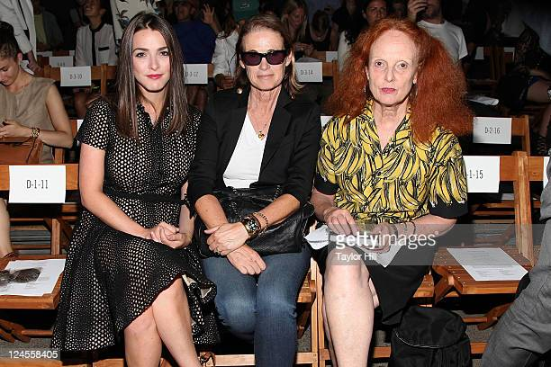 Katherine 'Bee' Shaffer Vogue West Coast Editor Lisa Love and Vogue creative director Grace Coddington attend the Boy and Girl by Band of Outsiders...