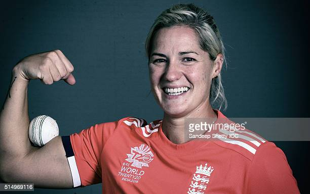 Katherine Brunt of England during the photocall of the England team ahead of the Women's ICC World Twenty20 India 2016 on March 9 2016 in Chennai...