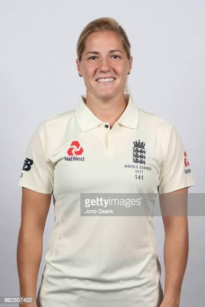Katherine Brunt poses during the England women's Test headshots session on October 13 2017 in Brisbane Australia