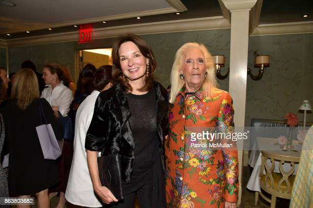 Katherine Bryan and Cynthia Frank attend the launch of Second Bloom Cathy Graham's Art of the Table hosted by Joanna Coles and Clinton Smith at...