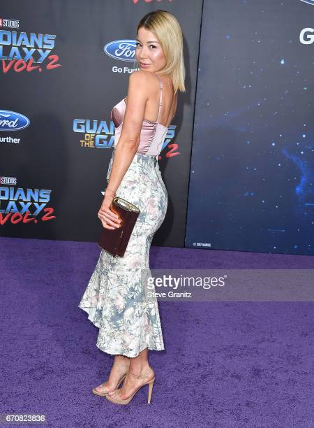 Katherine Castro arrives at the Premiere Of Disney And Marvel's 'Guardians Of The Galaxy Vol 2' at Dolby Theatre on April 19 2017 in Hollywood...