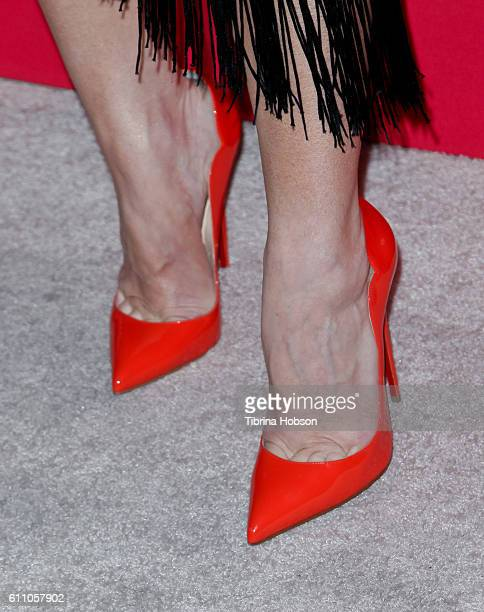 Katherine Castro shoe detail attends Variety's 10 Latinos to watch event at The London West Hollywood on September 28 2016 in West Hollywood...