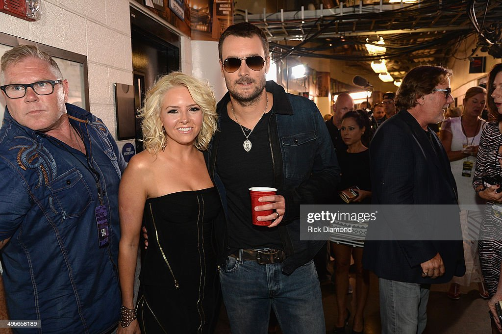 Katherine Blasingame and Eric Church attend the 2014 CMT Music Awards at Bridgestone Arena on June 4 2014 in Nashville Tennessee