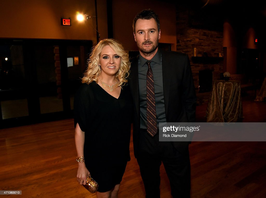 Katherine Blasingame and singersongwriter Eric Church attend the 16th Annual Nashville Best Cellars Dinner hosted by the TJ Martell Foundation at...