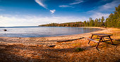 Beach at Katherine Cove, Lake Superior, Lake Superior Provincial Park, Great Lakes, Ontario, Canada.