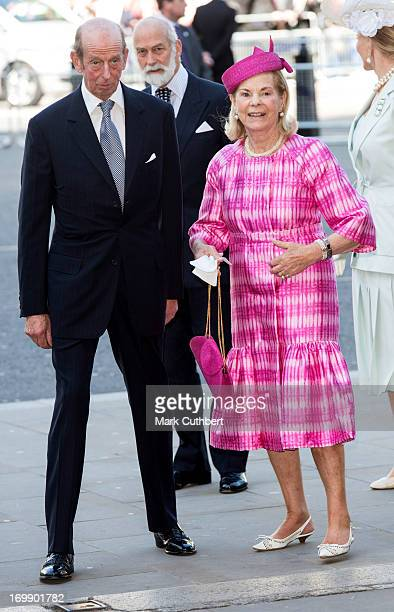 Katherine Duchess of Kent and Prince Edward Duke of Kent attend a service marking the 60th anniversary of the Queen's coronation at Westminster Abbey...