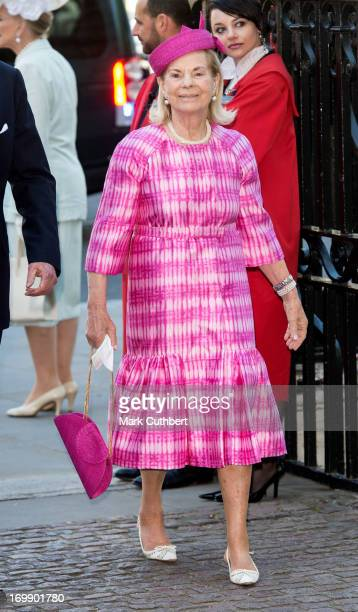 Katherine Duchess of Kent attends a service marking the 60th anniversary of the Queen's coronation at Westminster Abbey on June 4 2013 in London...