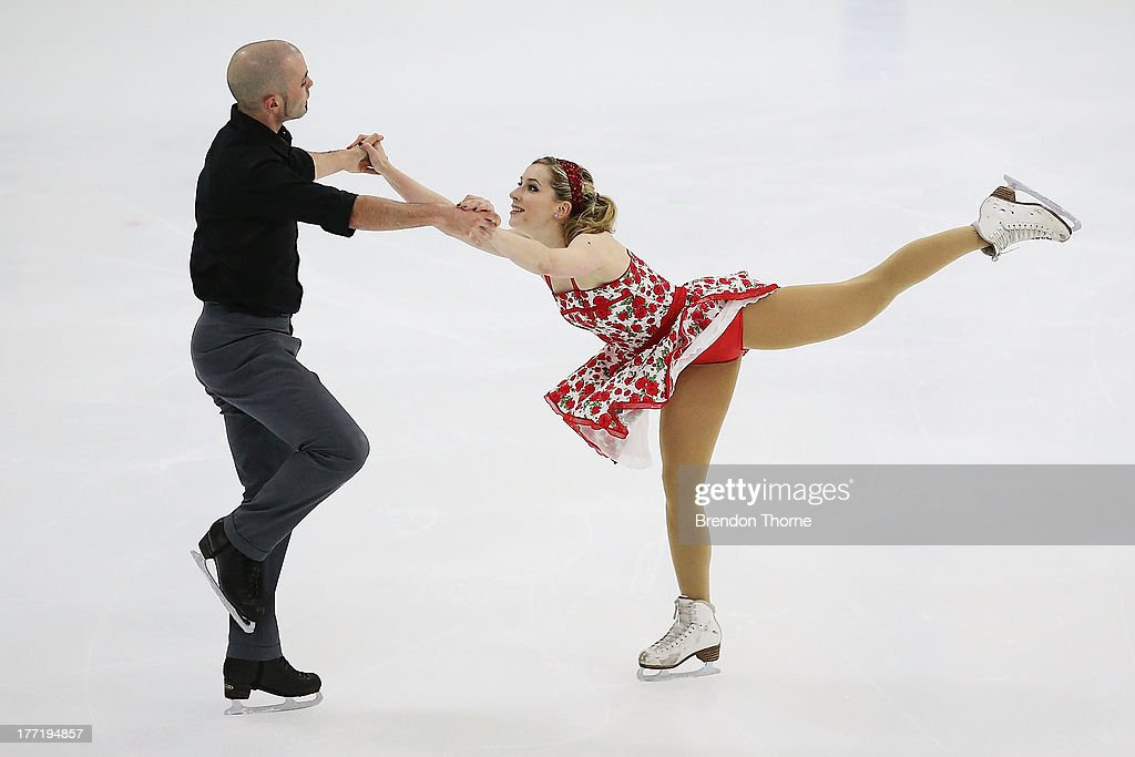 Katherine Firkin and Henry Dupont of Australia compete in the Senior Free Dance during Skate Down Under at Canterbury Olympic Ice Rink on August 22, 2013 in Sydney, Australia.