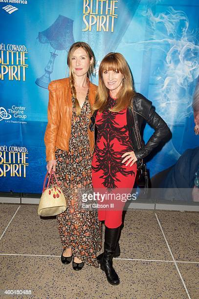 Katherine Flynn and Actress Jane Seymour attend Noel Coward's 'Blithe Spirit'Los Angeles Opening Night Performance at Ahmanson Theatre on December 14...
