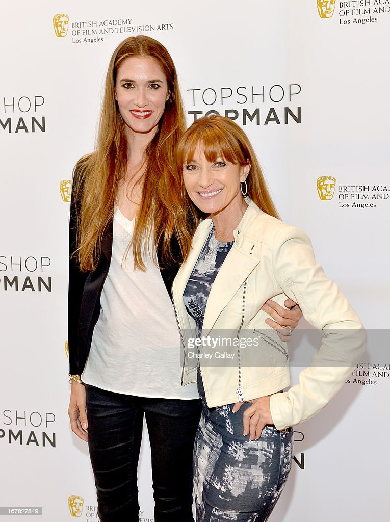 <a gi-track='captionPersonalityLinkClicked' href=/galleries/search?phrase=Katherine+Flynn&family=editorial&specificpeople=2313338 ng-click='$event.stopPropagation()'>Katherine Flynn</a> (L) and Jane Seymour attend BAFTA Los Angeles and Sir Philip Green Celebrate the British New Wave at Topshop Topman at The Grove on April 30, 2013 in Los Angeles, California.