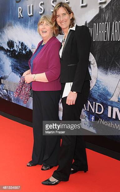 Katherine Grainger and her mother Liz Grainger attend the Scottish Fan Premiere of 'NOAH' at Filmhouse on March 29 2014 in Edinburgh United Kingdom
