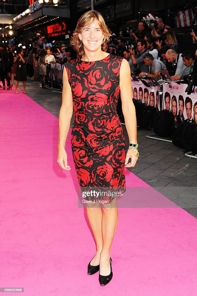 Katherine Grainger arrives for the world premiere of 'Bridget Jones's Baby' at Odeon Leicester Square on September 5, 2016 in London, England.