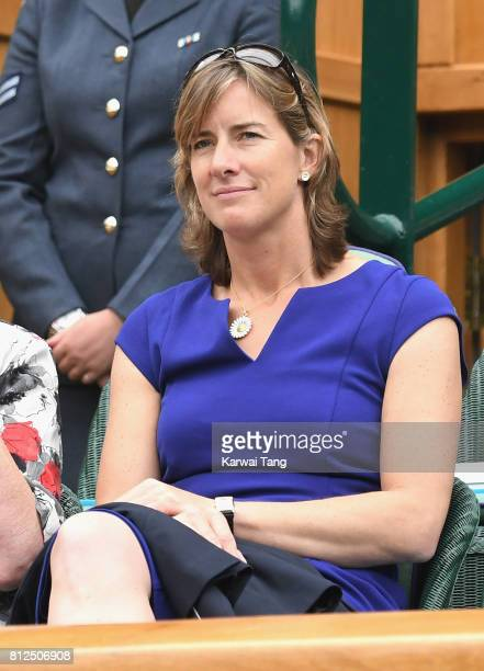 Katherine Grainger attends day eight of the Wimbledon Tennis Championships at the All England Lawn Tennis and Croquet Club on July 11 2017 in London...