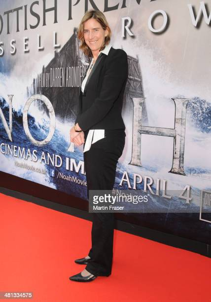 Katherine Grainger attends the Scottish Fan Premiere of 'NOAH' at Filmhouse on March 29 2014 in Edinburgh United Kingdom