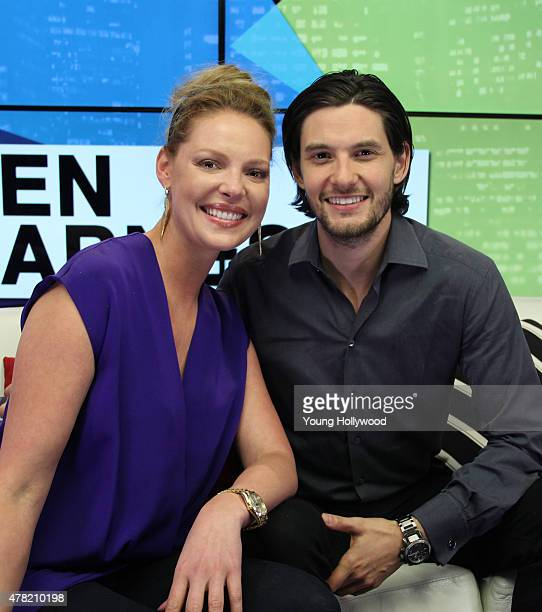 Katherine Heigl and Ben Barnes at the Young Hollywood Studio on June 22 2015 in Los Angeles California