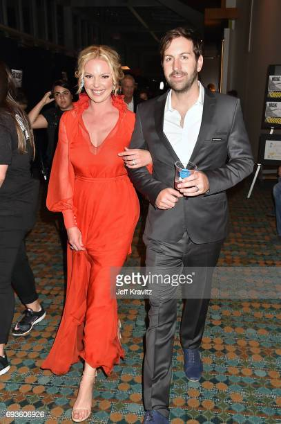 Katherine Heigl and Josh Kelley attend the 2017 CMT Music Awards at the Music City Center on June 7 2017 in Nashville Tennessee