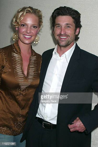 Katherine Heigl and Patrick Dempsey during The Gersh Agency Celebrates New York UpFronts with Gotham Magazine Inside the Party at BED in New York...