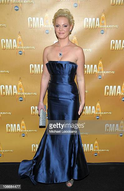 Katherine Heigl attends the 44th Annual CMA Awards at the Bridgestone Arena on November 10 2010 in Nashville Tennessee