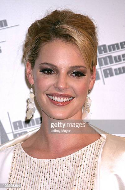 Katherine Heigl during 33rd Annual American Music Awards Press Room at Shrine Auditorium in Los Angeles California United States