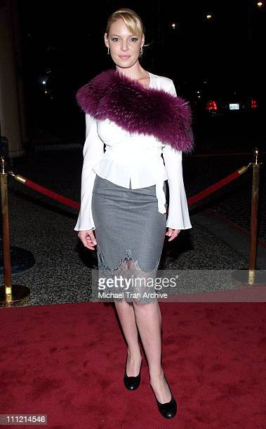 Katherine Heigl during The Los Angeles Free Clinic's 29th Annual Dinner Gala Arrivals at Regent Beverly Wilshire in Beverly Hills California United...