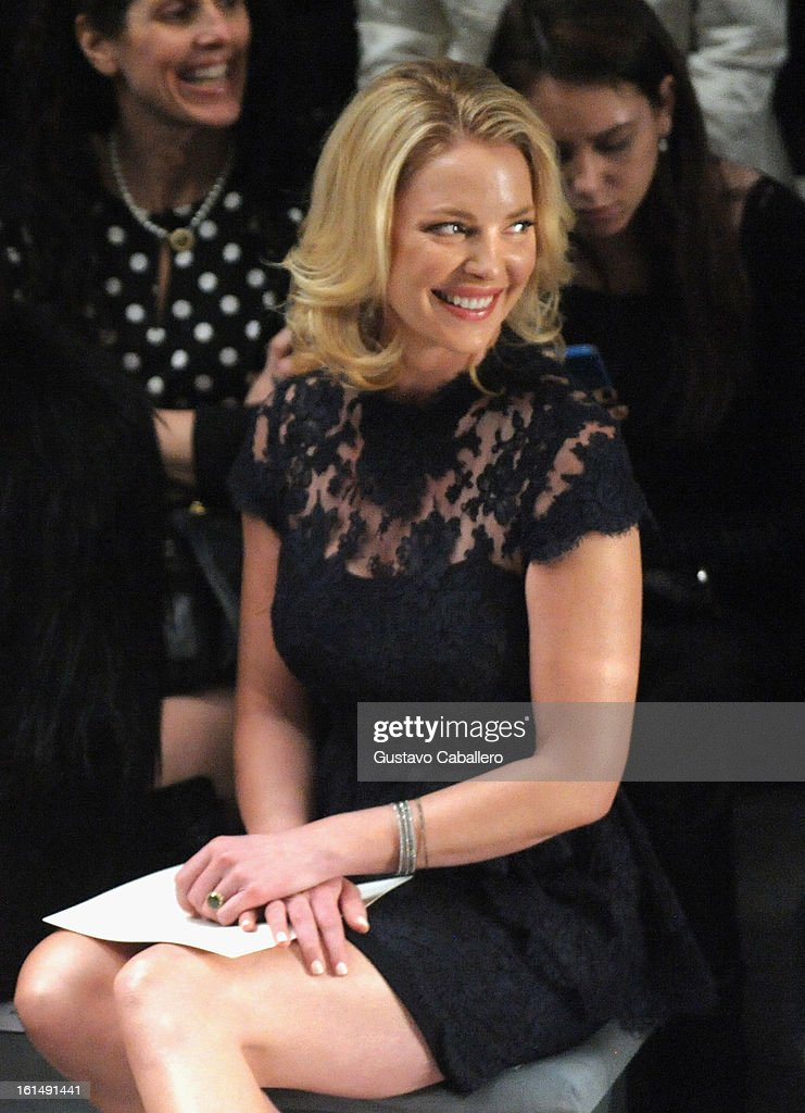 <a gi-track='captionPersonalityLinkClicked' href=/galleries/search?phrase=Katherine+Heigl&family=editorial&specificpeople=206952 ng-click='$event.stopPropagation()'>Katherine Heigl</a> is seen around lincoln Center - Day 5 - Fall 2013 Mercedes-Benz Fashion Week at Lincoln Center for the Performing Arts on February 11, 2013 in New York City.