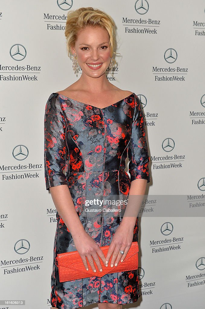 Katherine Heigl is seen around Lincoln Center - Day 7 - Fall 2013 Mercedes-Benz Fashion Week at Lincoln Center for the Performing Arts on February 13, 2013 in New York City.