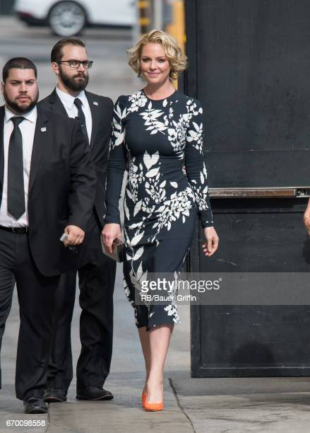 Katherine Heigl is seen at 'Jimmy Kimmel Live' on April 18 2017 in Los Angeles California