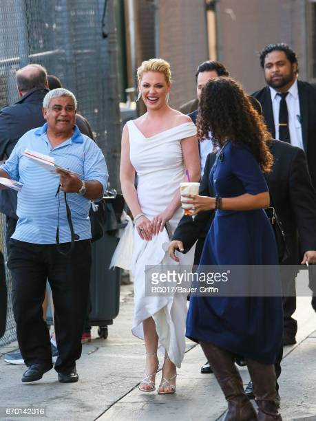 Katherine Heigl is seen at 'Jimmy Kimmel Live' Show on April 18 2017 in Los Angeles California