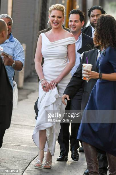 Katherine Heigl is seen at Kimmel on April 18 2017 in Los Angeles California