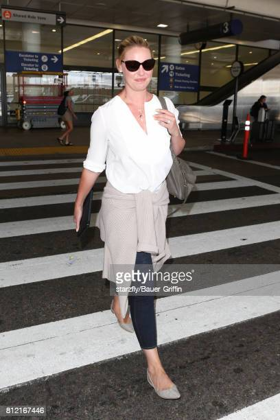 Katherine Heigl is seen at LAX on July 10 2017 in Los Angeles California