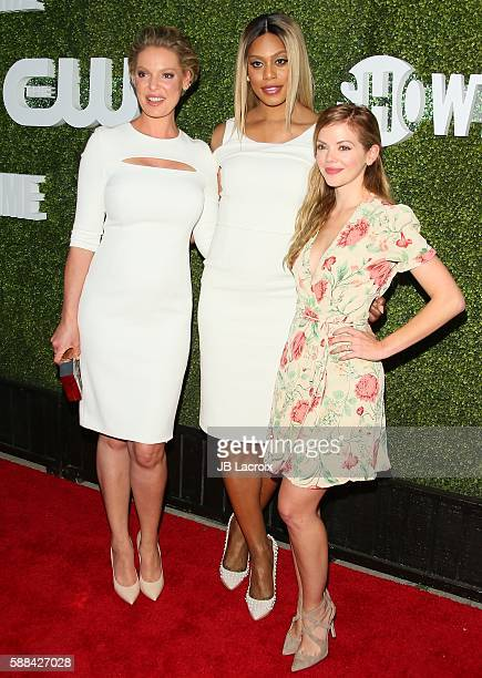 Katherine Heigl Laverne Cox and Dreama Walker attend the CBS CW Showtime Summer TCA Party at Pacific Design Center on August 10 2016 in West...