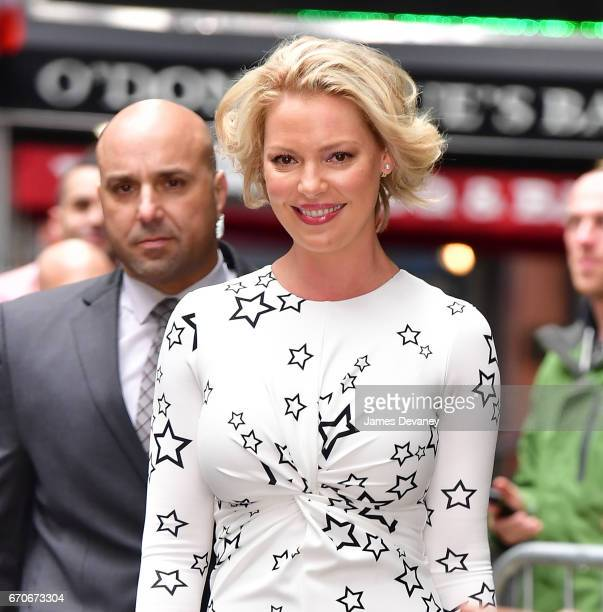 Katherine Heigl leaves ABC's 'Good Morning America' in Times Square on April 20 2017 in New York City