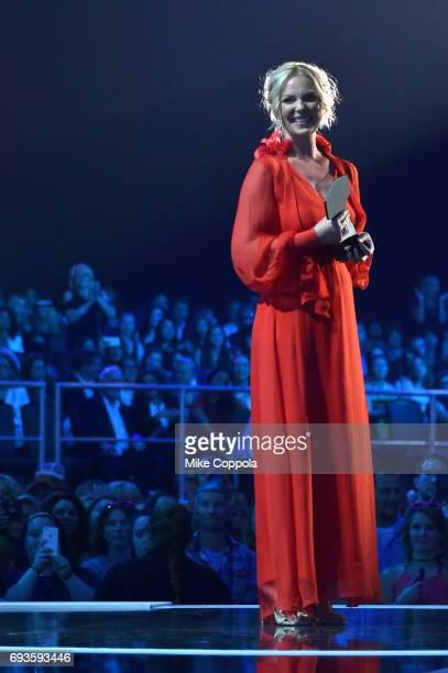 Katherine Heigl speaks onstage during the 2017 CMT Music Awards at the Music City Center on June 6 2017 in Nashville Tennessee
