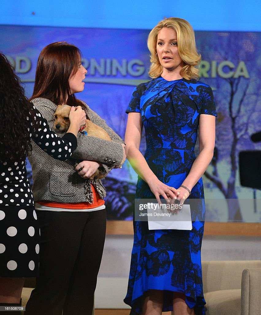 <a gi-track='captionPersonalityLinkClicked' href=/galleries/search?phrase=Katherine+Heigl&family=editorial&specificpeople=206952 ng-click='$event.stopPropagation()'>Katherine Heigl</a> visits ABC's 'Good Morning America' at ABC Studios on February 11, 2013 in New York City.