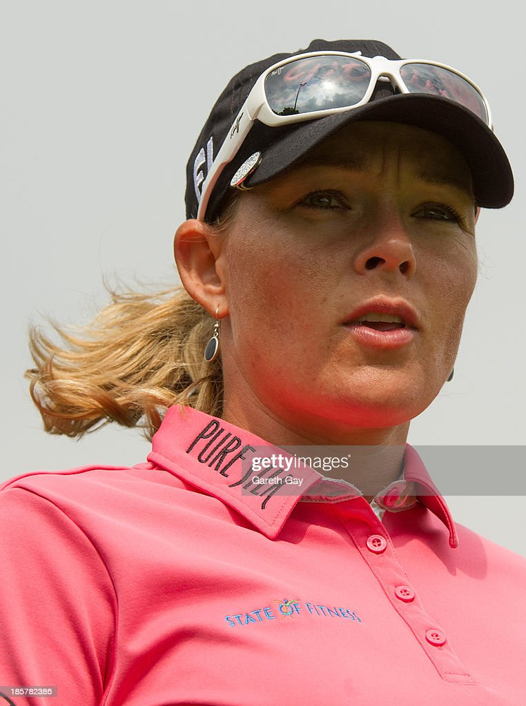 Katherine Hull-Kirk of Australia waits to tee off on the ninth hole during day two of the Sunrise LPGA Taiwan Championship on October 25, 2013 in Taoyuan, Taiwan.