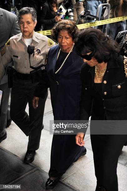 Katherine Jackson arrives for the sentencing of Dr Conrad Murray at the Los Angeles Superior Court on November 29 2011 in Los Angeles California...
