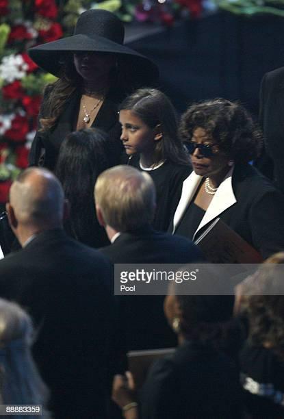 Katherine Jackson arrives with Michael Jackson's daughter Paris Michael Katherine Jackson at the Michael Jackson public memorial service held at...