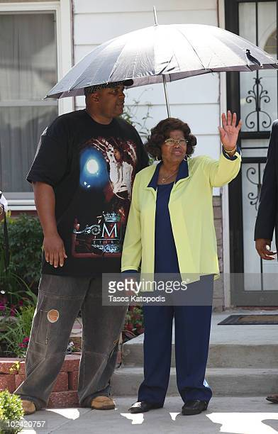 Katherine Jackson attends the oneyear anniversary of Michael Jackson's death on June 25 2010 in Gary Indiana