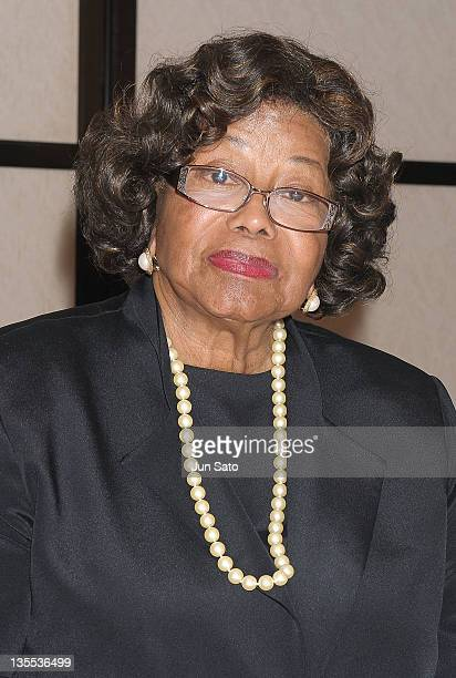 Katherine Jackson attends the press conference of 'Michael Jackson Children Foundation' at the Keio Plaza Hotel on December 12 2011 in Tokyo Japan
