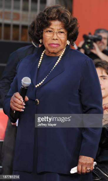 Katherine Jackson during the Michael Jackson Hand And Footprint Ceremony at Grauman's Chinese Theatre on January 26 2012 in Hollywood California