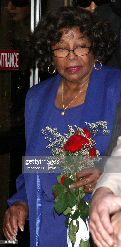 Katherine Jackson, mother of late pop icon Michael Jackson, leaves the Los Angeles Criminal Courts building after a court appearance by Dr. Conrad Murray on April 5, 2010 in Los Angeles, California. Murray faces involuntary manslaughter charges in the death of the pop singer last June.