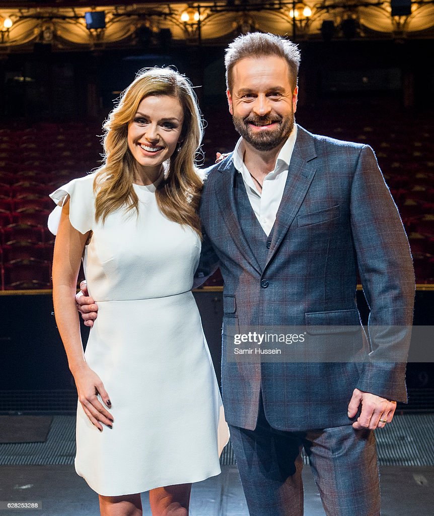 Katherine Jenkins And Alfie Boe attend a photocall to announce casting in Hammerstein's 'Carousel' at London Coliseum on December 7, 2016 in London, England.